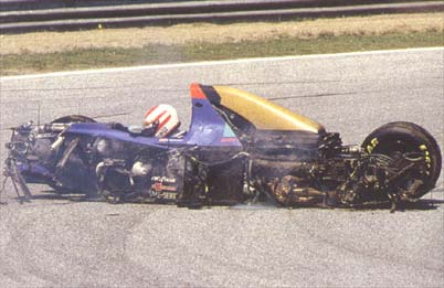 Tragicas muertes Formula 1 Roland Ratzenberger Accidente